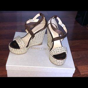 Portia suede wedge sandals